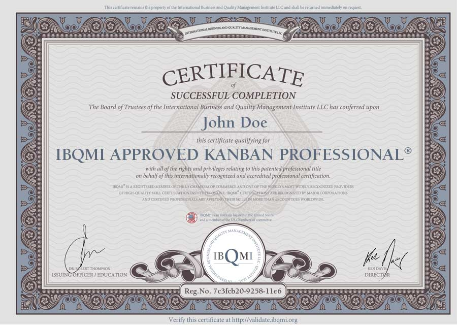 IBQMI Approved Kanban Professional®
